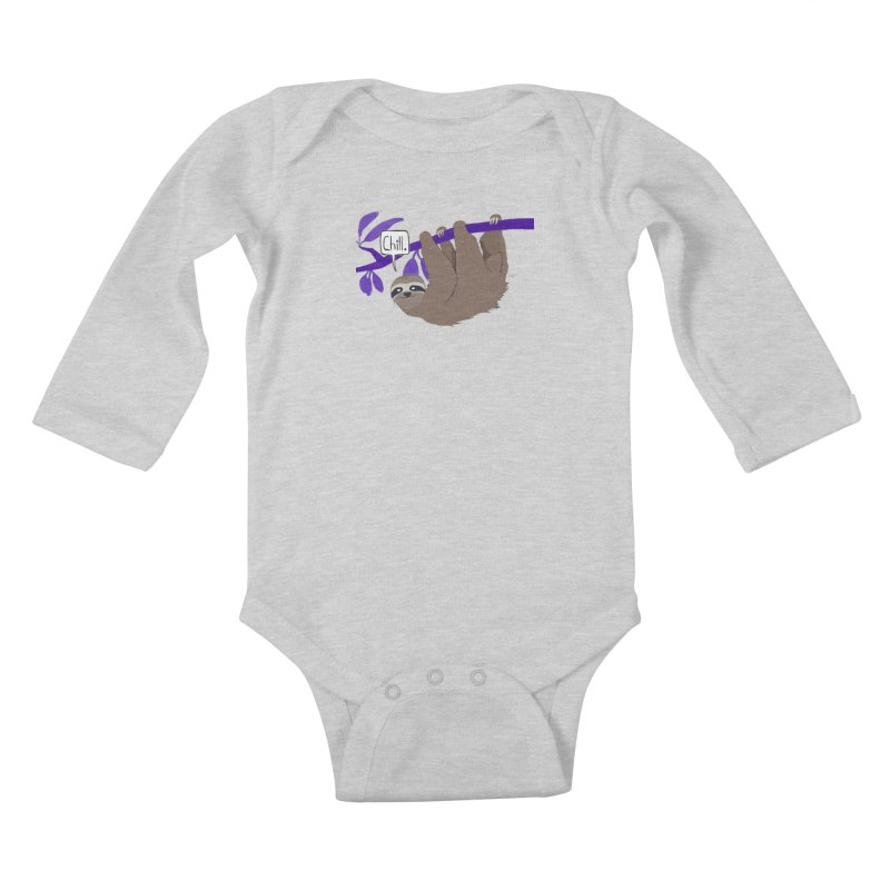 Chill Kids Baby Longsleeve Bodysuit by busybee apparel