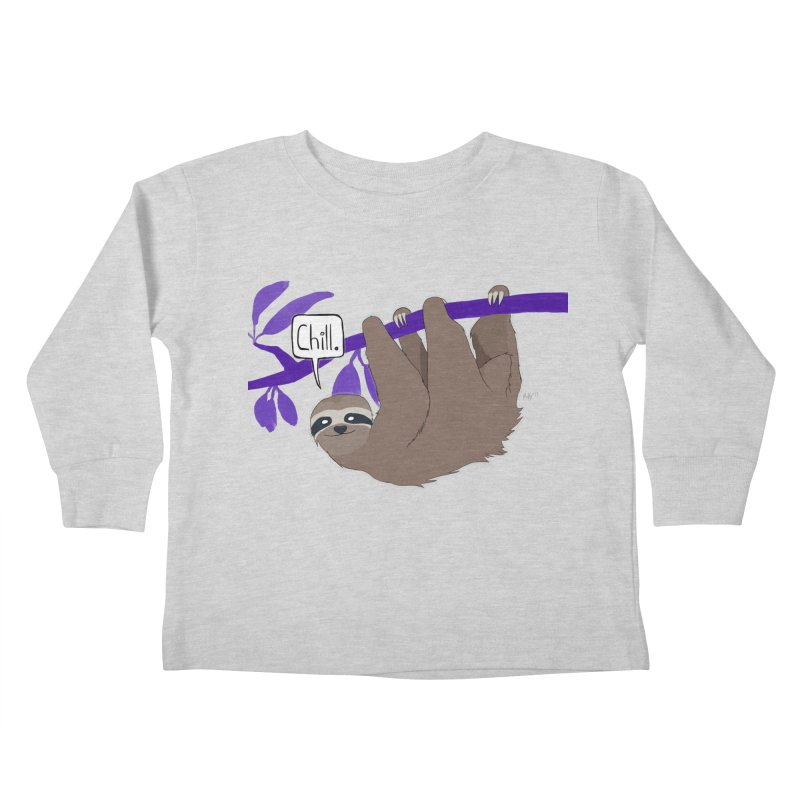 Chill Kids Toddler Longsleeve T-Shirt by busybee apparel
