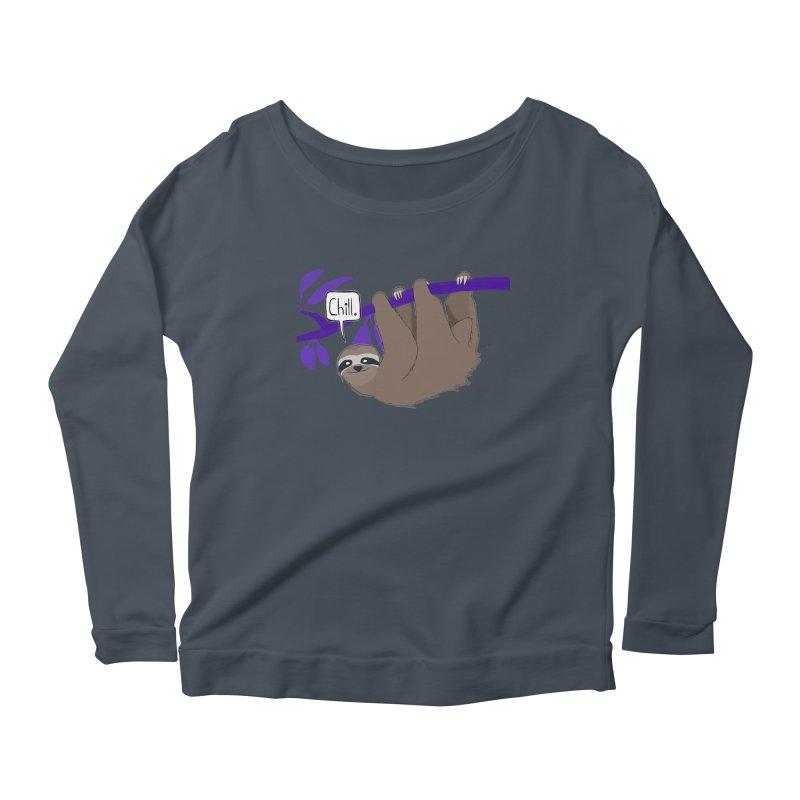 Chill Women's Scoop Neck Longsleeve T-Shirt by busybee apparel