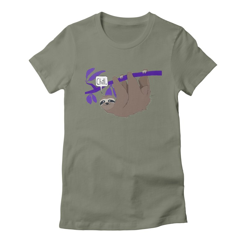 Chill Women's Fitted T-Shirt by busybee apparel
