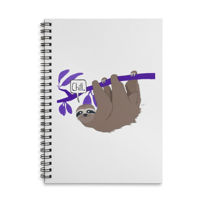 Chill Accessories Lined Spiral Notebook by busybee apparel
