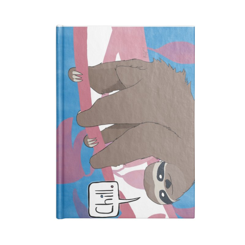 Chill (pink and blue) Accessories Lined Journal Notebook by busybee apparel