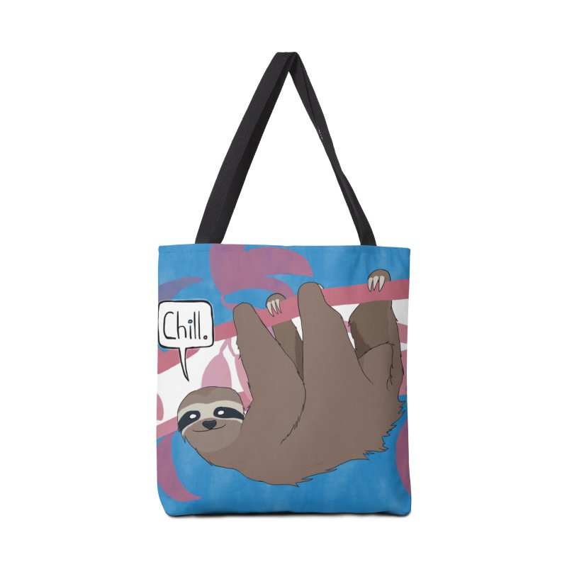 Chill (pink and blue) Accessories Tote Bag Bag by busybee apparel