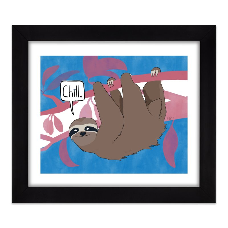 Chill (pink and blue) Home Framed Fine Art Print by busybee apparel