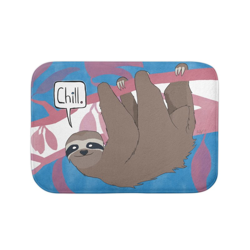 Chill (pink and blue) Home Bath Mat by busybee apparel