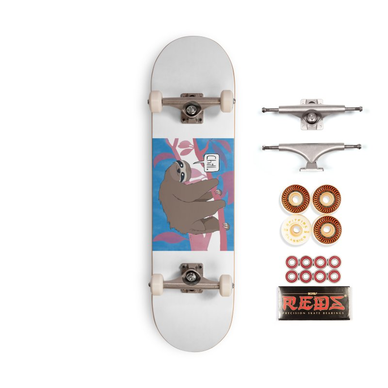 Chill (pink and blue) Accessories Skateboard by busybee apparel