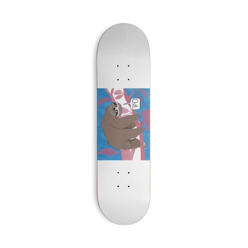 Chill (pink and blue) Accessories Deck Only Skateboard by busybee apparel