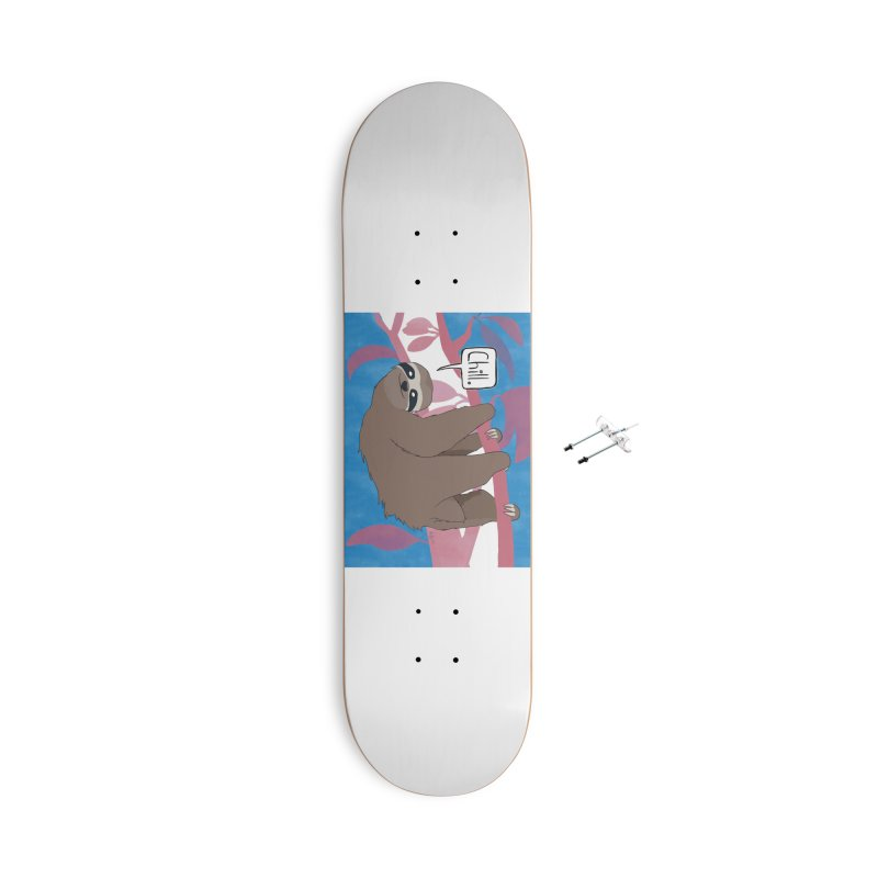 Chill (pink and blue) Accessories With Hanging Hardware Skateboard by busybee apparel