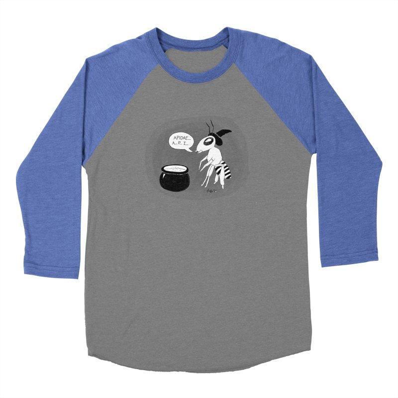Spelling Bee Men's Baseball Triblend Longsleeve T-Shirt by busybee apparel