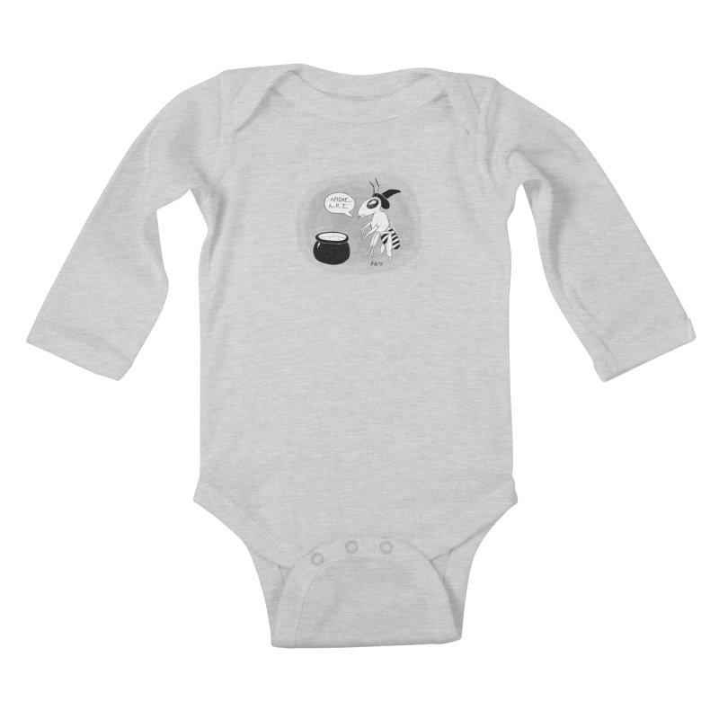 Spelling Bee Kids Baby Longsleeve Bodysuit by busybee apparel