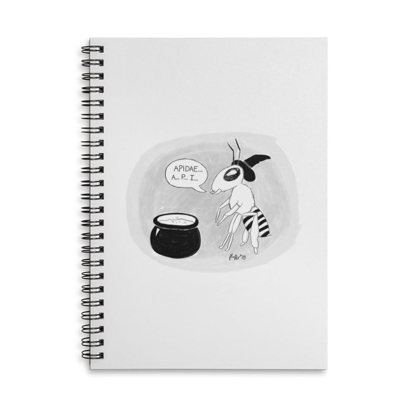 Spelling Bee Accessories Lined Spiral Notebook by busybee apparel