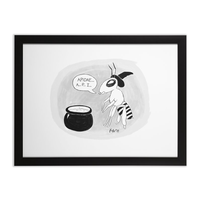 Spelling Bee Home Framed Fine Art Print by busybee apparel