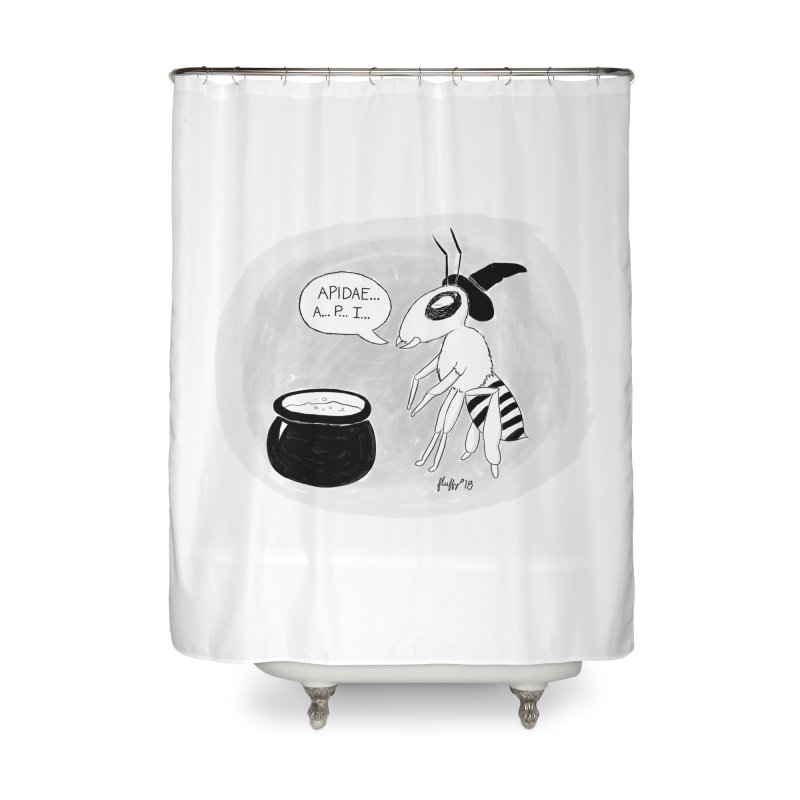 Spelling Bee Home Shower Curtain by busybee apparel