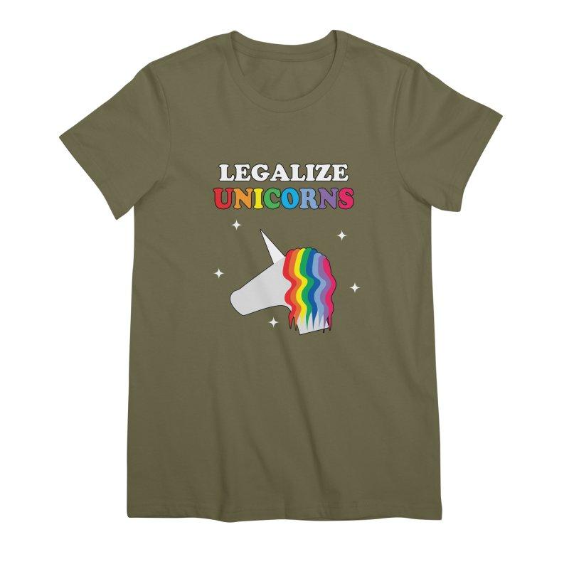 Legalize Unicorns Women's Premium T-Shirt by busybee apparel