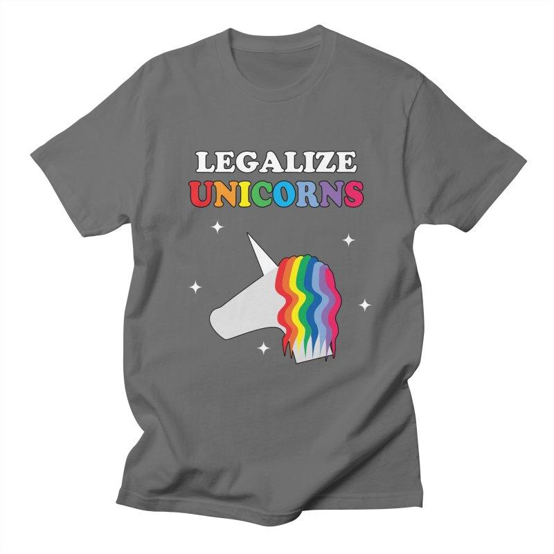 Legalize Unicorns Men's T-Shirt by busybee apparel