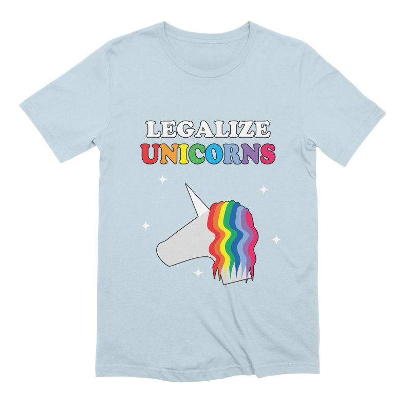 Legalize Unicorns Men's Extra Soft T-Shirt by busybee apparel