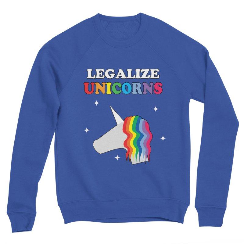 Legalize Unicorns Men's Sweatshirt by busybee apparel