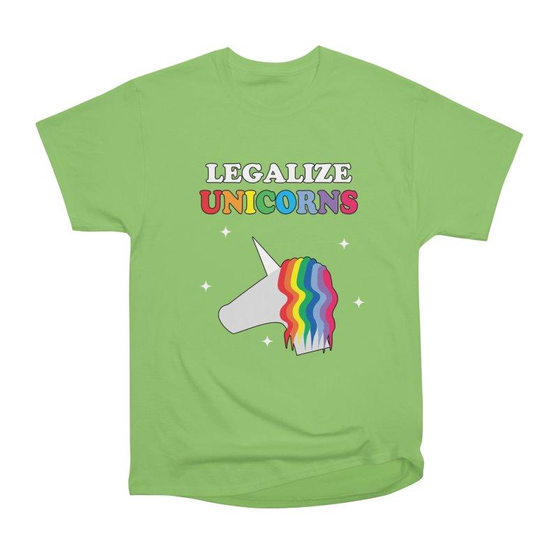 Legalize Unicorns Men's Heavyweight T-Shirt by busybee apparel
