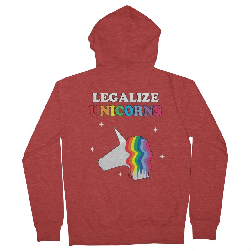 Legalize Unicorns Women's French Terry Zip-Up Hoody by busybee apparel