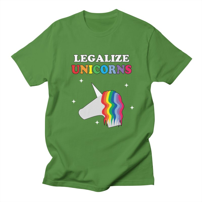 Legalize Unicorns Women's Regular Unisex T-Shirt by busybee apparel