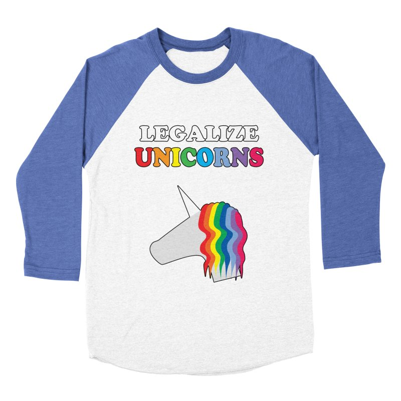 Legalize Unicorns Men's Baseball Triblend Longsleeve T-Shirt by busybee apparel
