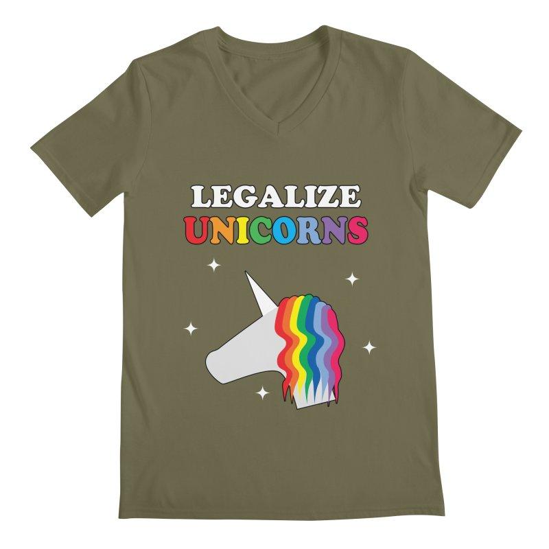 Legalize Unicorns Men's Regular V-Neck by busybee apparel
