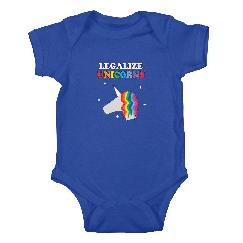 Legalize Unicorns Kids Baby Bodysuit by busybee apparel