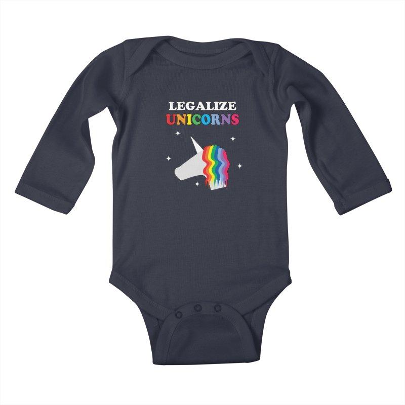 Legalize Unicorns Kids Baby Longsleeve Bodysuit by busybee apparel