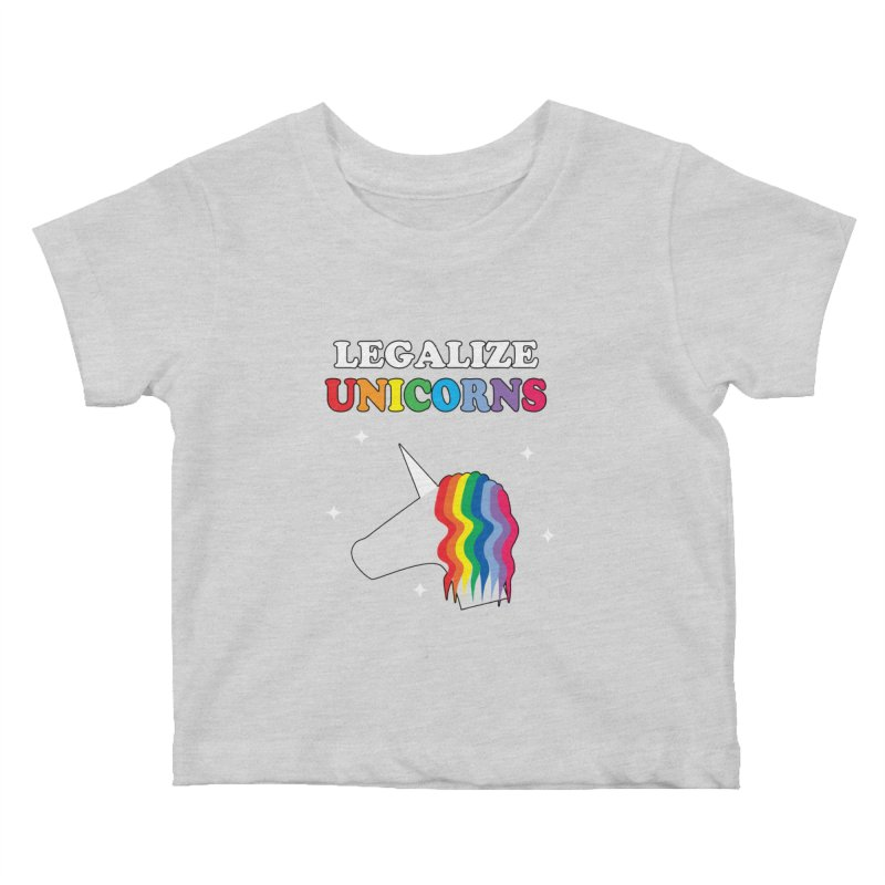 Legalize Unicorns Kids Baby T-Shirt by busybee apparel