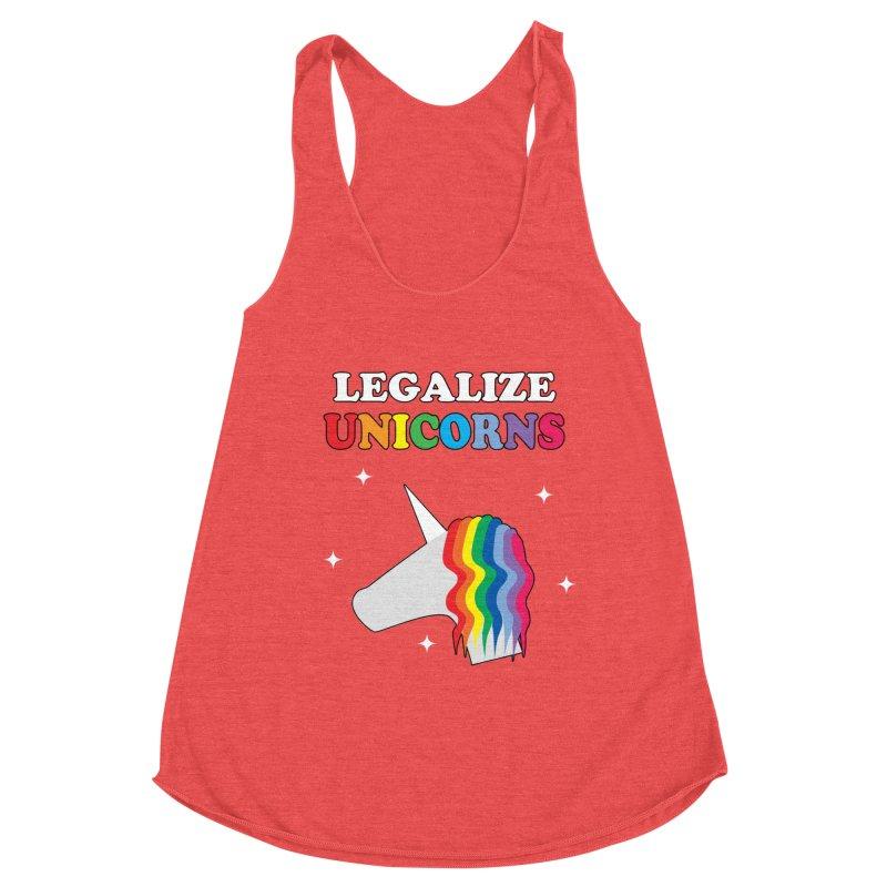 Legalize Unicorns Women's Racerback Triblend Tank by busybee apparel