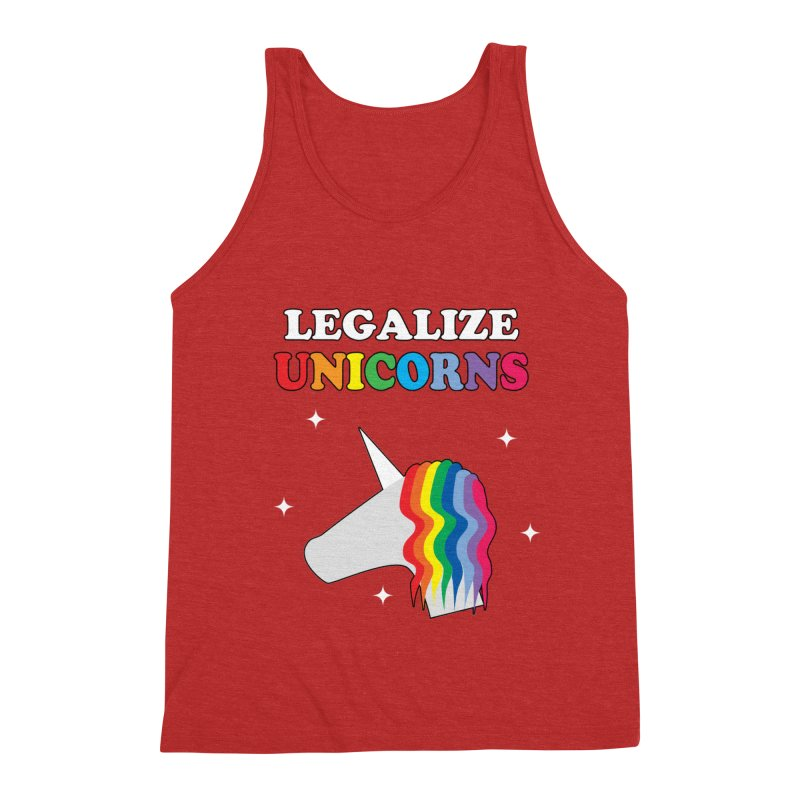 Legalize Unicorns Men's Triblend Tank by busybee apparel