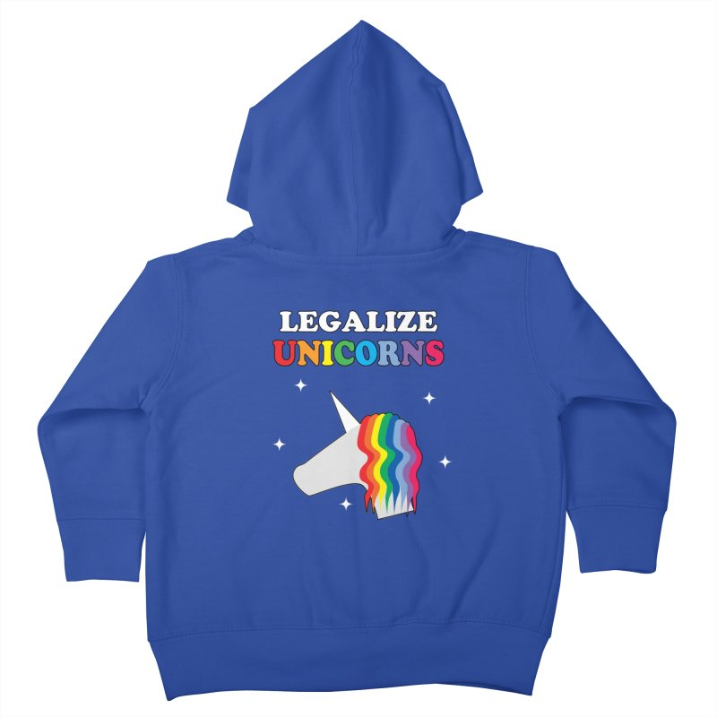 Legalize Unicorns Kids Toddler Zip-Up Hoody by busybee apparel