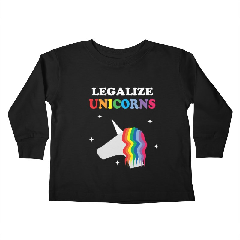 Legalize Unicorns Kids Toddler Longsleeve T-Shirt by busybee apparel