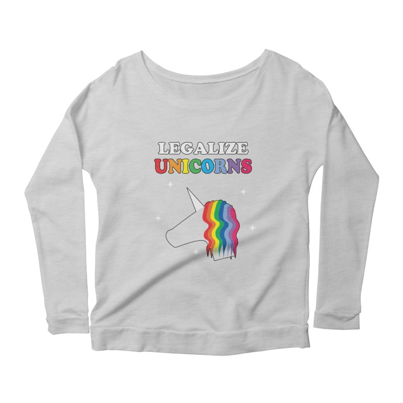 Legalize Unicorns Women's Scoop Neck Longsleeve T-Shirt by busybee apparel