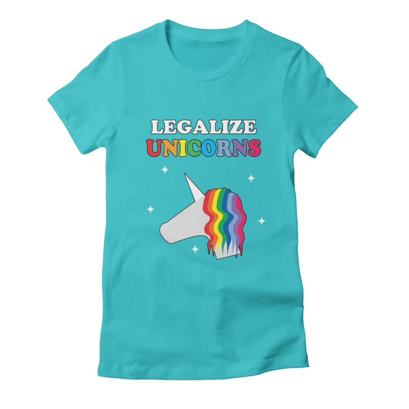 Legalize Unicorns Women's Fitted T-Shirt by busybee apparel