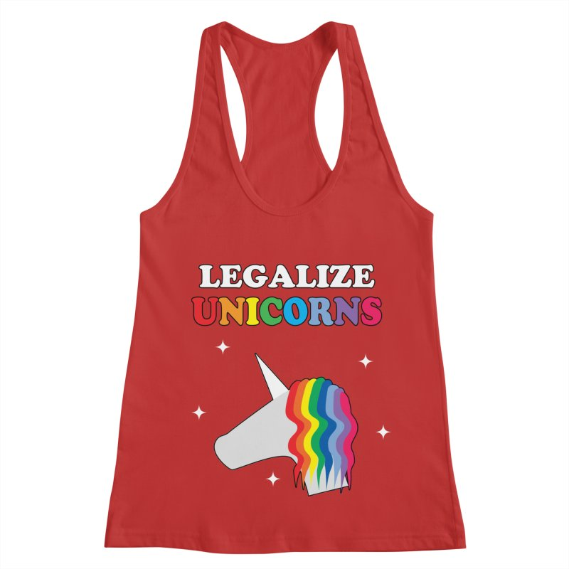 Legalize Unicorns Women's Racerback Tank by busybee apparel