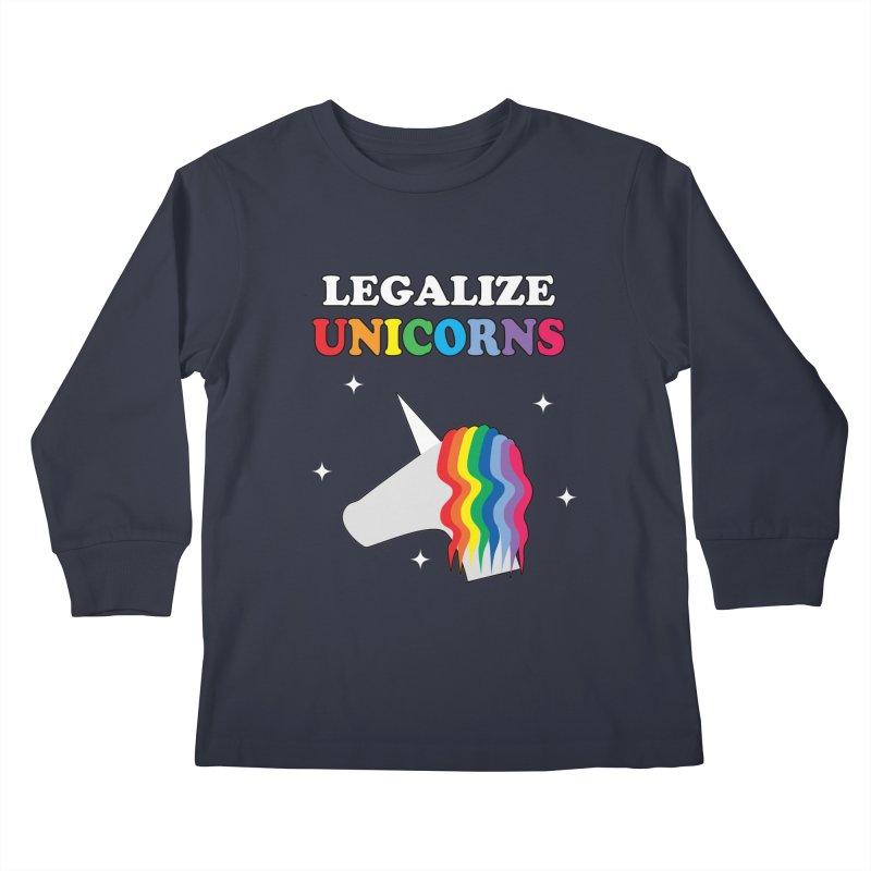 Legalize Unicorns Kids Longsleeve T-Shirt by busybee apparel