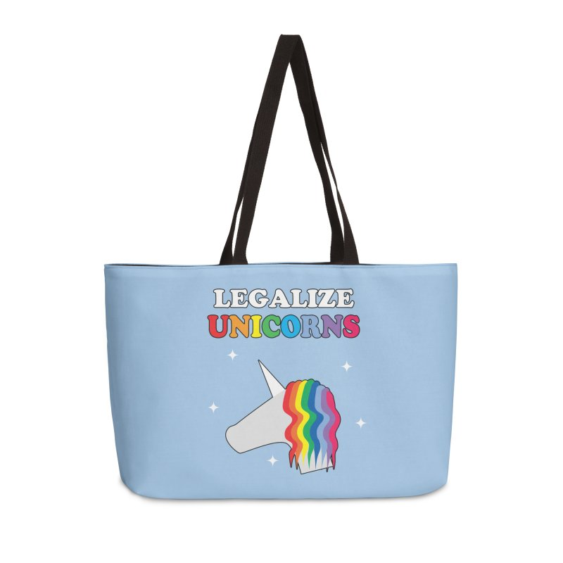 Legalize Unicorns Accessories Weekender Bag Bag by busybee apparel