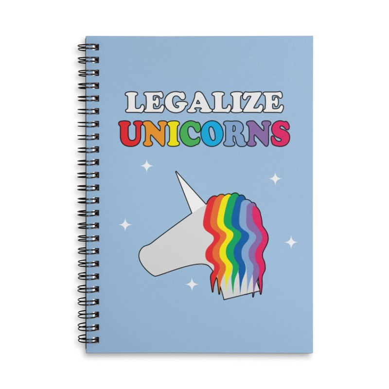 Legalize Unicorns Accessories Lined Spiral Notebook by busybee apparel