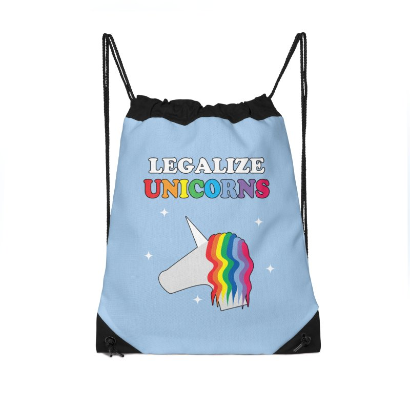 Legalize Unicorns Accessories Drawstring Bag Bag by busybee apparel