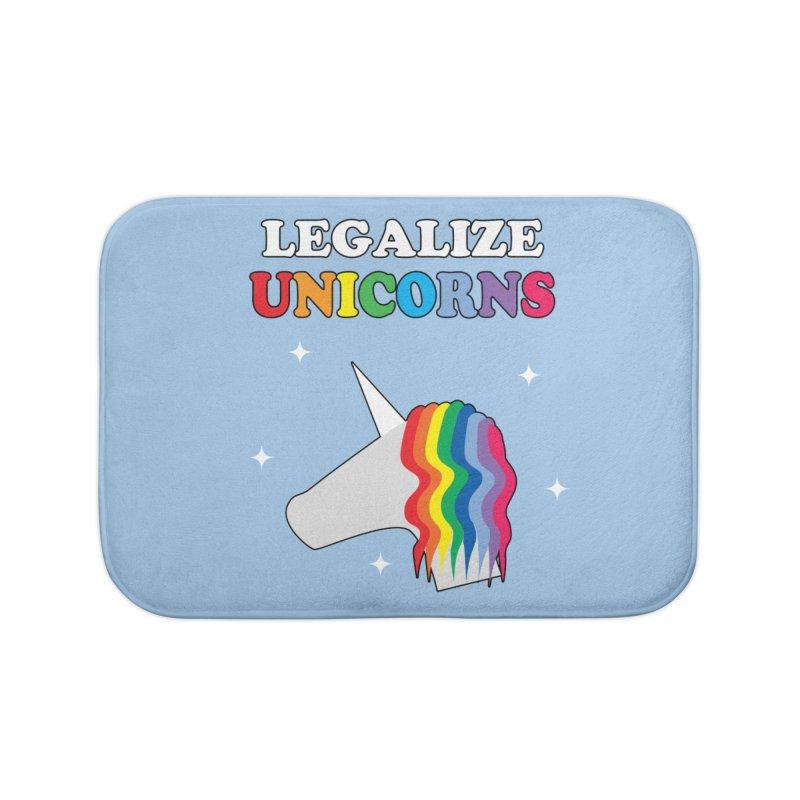 Legalize Unicorns Home Bath Mat by busybee apparel