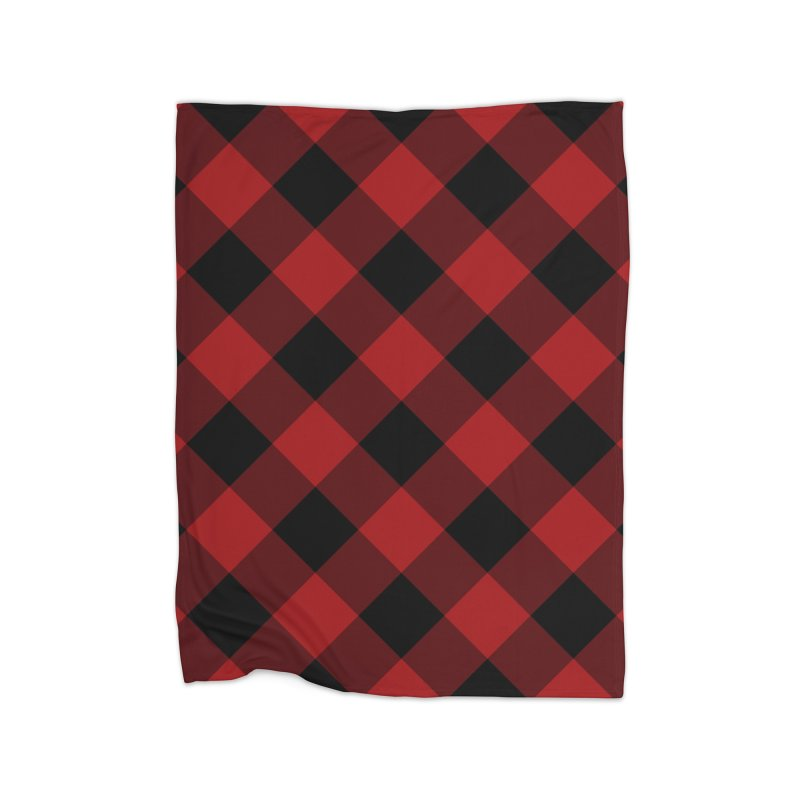 Plaid Life Home Fleece Blanket Blanket by busybee apparel