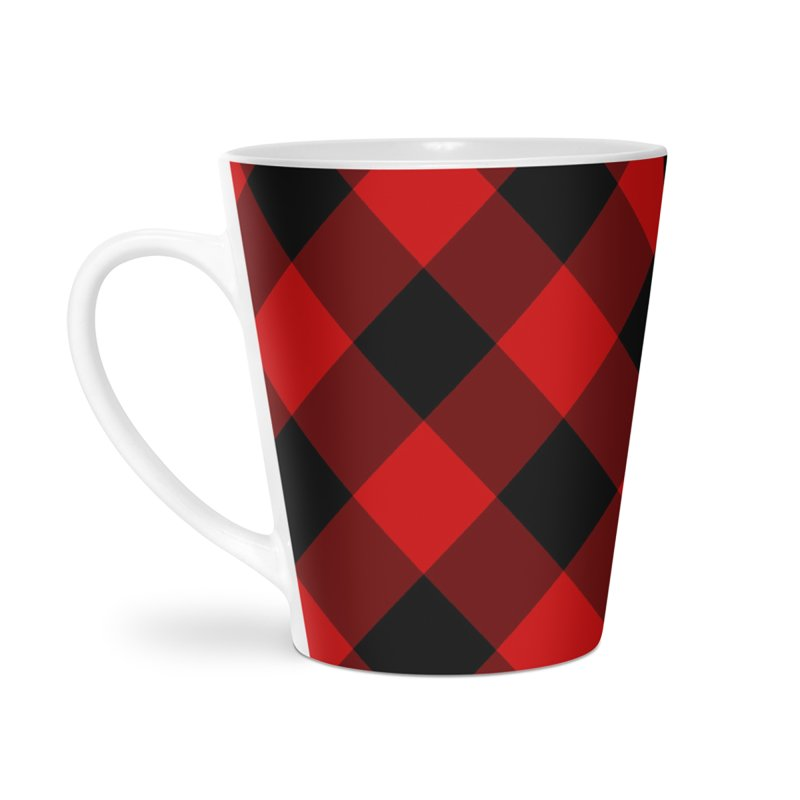 Plaid Life Accessories Latte Mug by busybee apparel