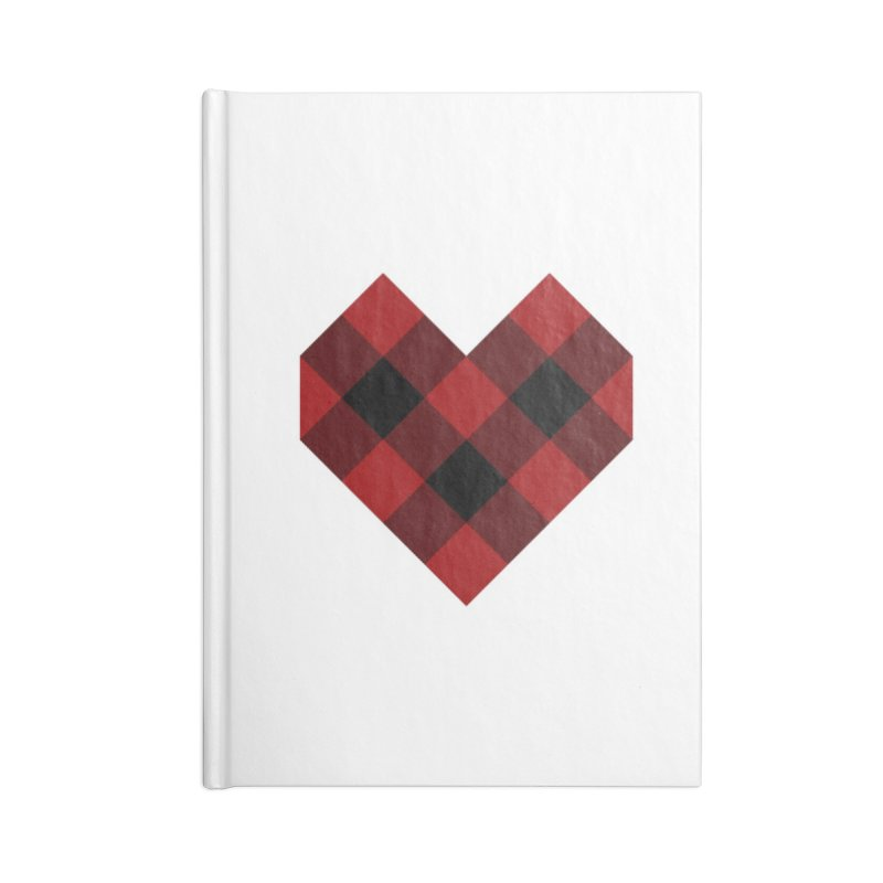Plaid Life Accessories Blank Journal Notebook by busybee apparel