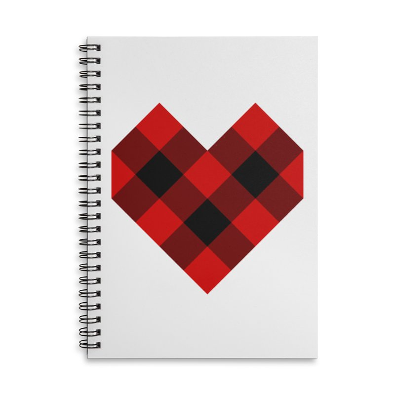 Plaid Life Accessories Lined Spiral Notebook by busybee apparel