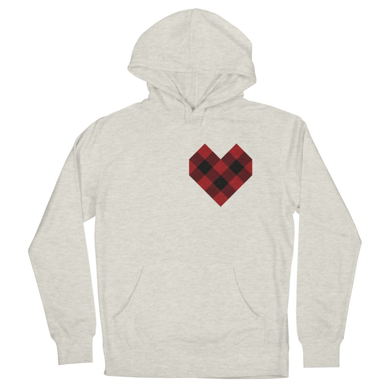 Plaid Life Men's French Terry Pullover Hoody by busybee apparel