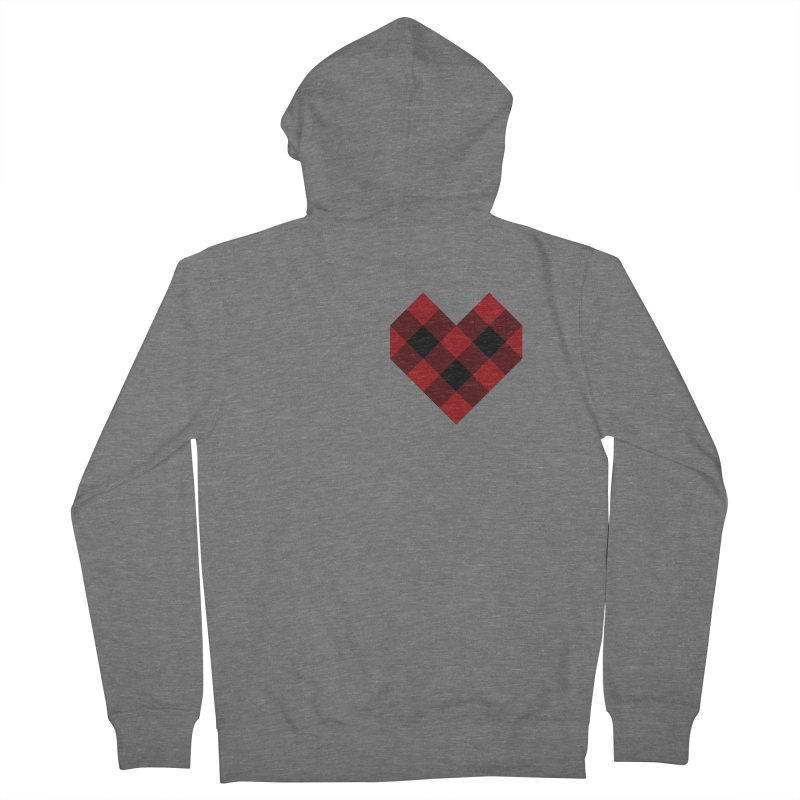 Plaid Life Men's French Terry Zip-Up Hoody by busybee apparel