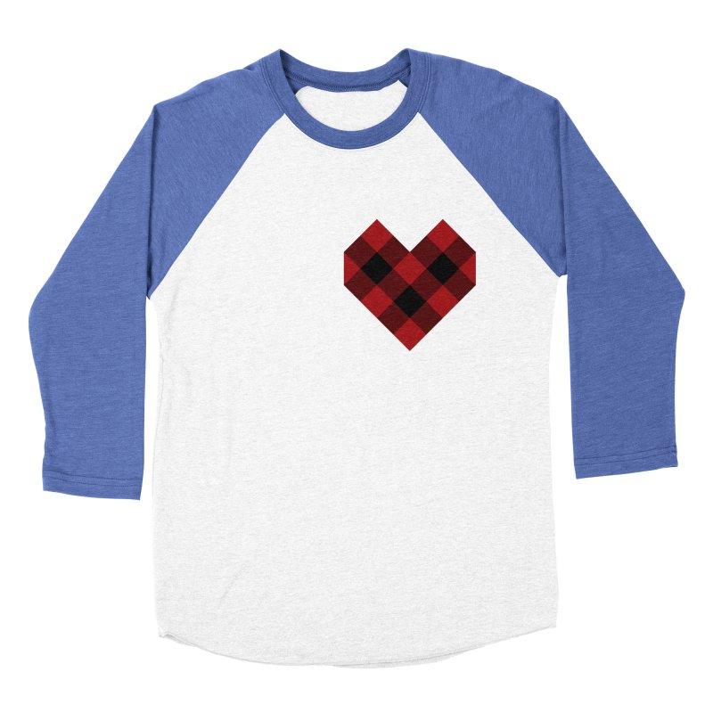 Plaid Life Women's Baseball Triblend Longsleeve T-Shirt by busybee apparel