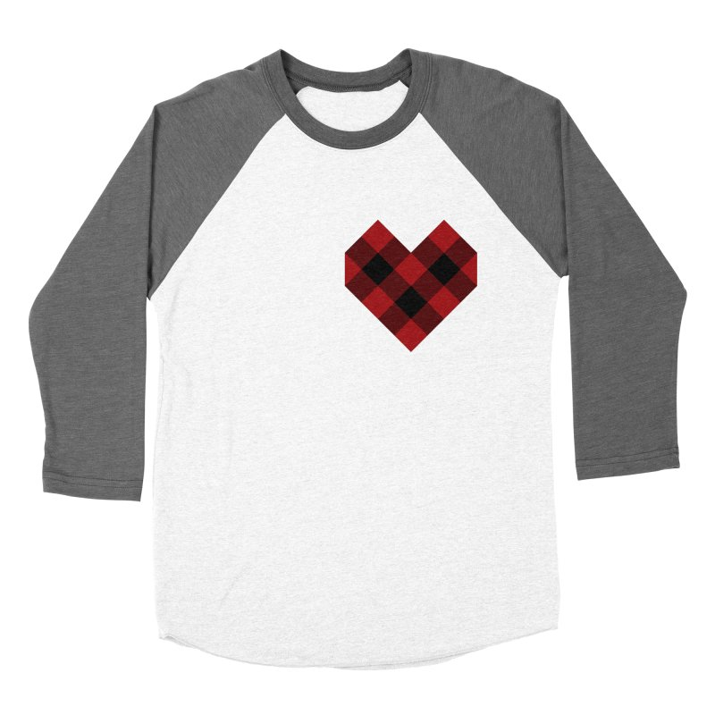 Plaid Life Men's Baseball Triblend Longsleeve T-Shirt by busybee apparel