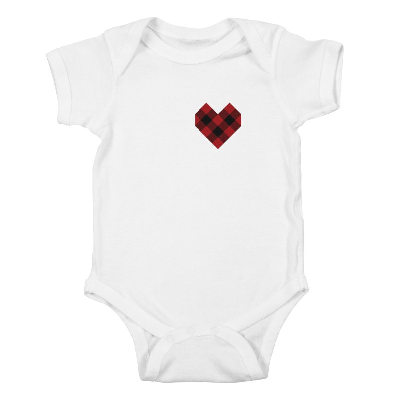 Plaid Life Kids Baby Bodysuit by busybee apparel